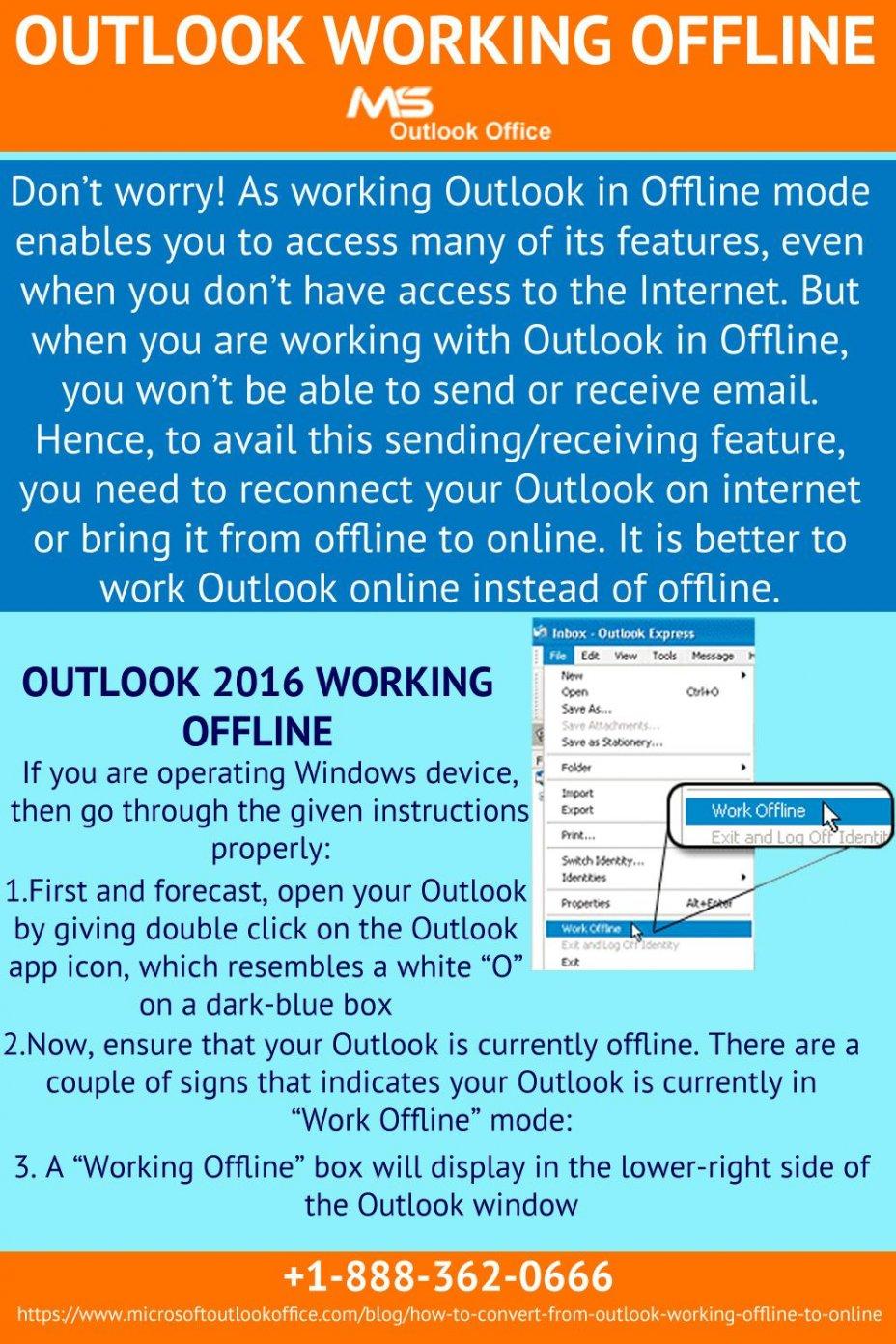 How to Resolve Outlook Working Offline Error?